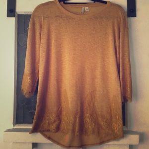 Mustard lace blouse